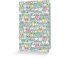Cats family Greeting Card