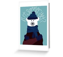 Polar Bear by Darah King Greeting Card