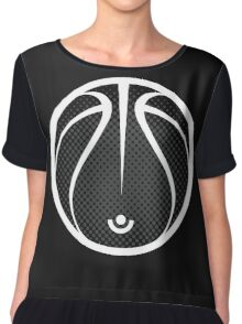 Vector Basketball Halftone Chiffon Top