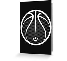 Vector Basketball Halftone Greeting Card