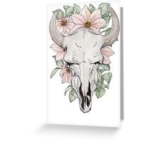 Cow skull watercolors Greeting Card