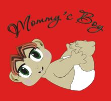 Mommy's Boy Red Hair and Green Eyes Kids Tee