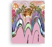 Purity, stained glass window abstract Canvas Print