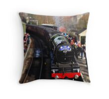 The Flying Scotsman Steam Train Throw Pillow