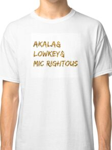 Akala & Lowkey & Mic Righteous White Gold (T-shirt, Phone Case & more) Classic T-Shirt