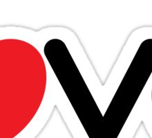 Love (06 - Black & Red on White) Sticker
