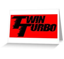 Twin Turbo Car Auto Stickers Greeting Card