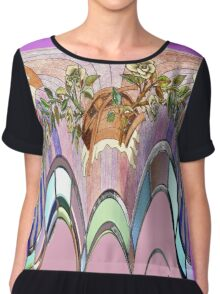 Purity, stained glass window abstract Chiffon Top