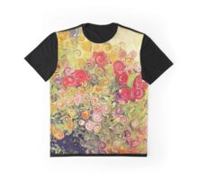 Colorful Flower Basket  Graphic T-Shirt