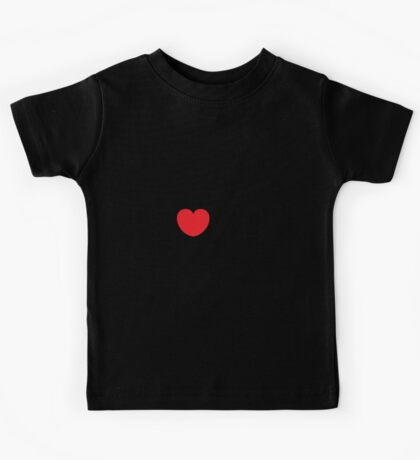 Love (06 - Black & Red on White) Kids Tee