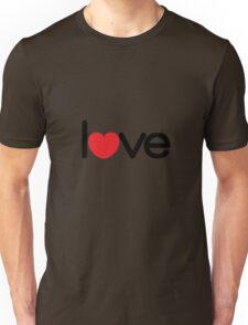 Love (06 - Black & Red on White) Unisex T-Shirt