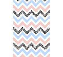 Zig Zag (PINK/BLUE/SILVER) Photographic Print