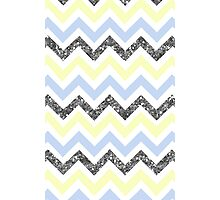 Zig Zag (YELLOW/BLUE/SILVER) Photographic Print