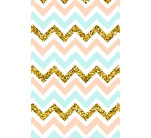 Zig Zag (PINK/BLUE/GOLD) Photographic Print