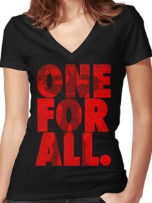 All Might - One for all Women's Fitted V-Neck T-Shirt
