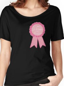 Didn't strangle my boss office work business prize adult tumblr ribbon award Women's Relaxed Fit T-Shirt