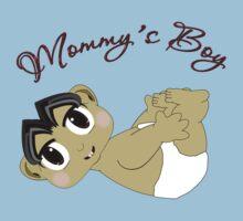 Mommy's Boy Black Hair and Brown Eyes2 Kids Tee