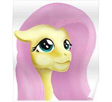 Fluttershy Digital Portrait Painting Poster