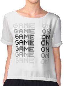 Game On Gaming Geek Video Games PC Playstatopn XBox Chiffon Top
