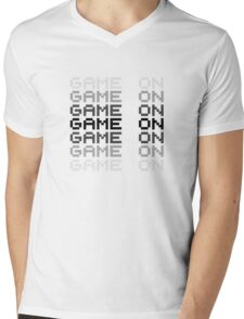 Game On Gaming Geek Video Games PC Playstatopn XBox Mens V-Neck T-Shirt