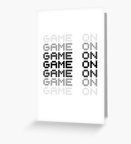 Game On Gaming Geek Video Games PC Playstatopn XBox Greeting Card