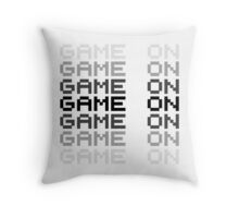 Game On Gaming Geek Video Games PC Playstatopn XBox Throw Pillow