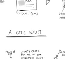Cat wallet and Dog wallet Sticker