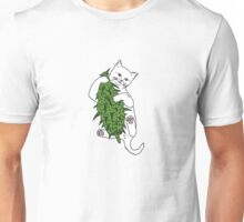 Cat Wrapped Around Weed Bud Unisex T-Shirt