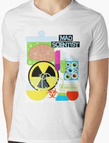 Mad Scientist Sciene Theme Mens V-Neck T-Shirt