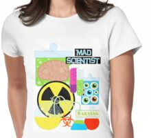 Mad Scientist Sciene Theme Womens Fitted T-Shirt