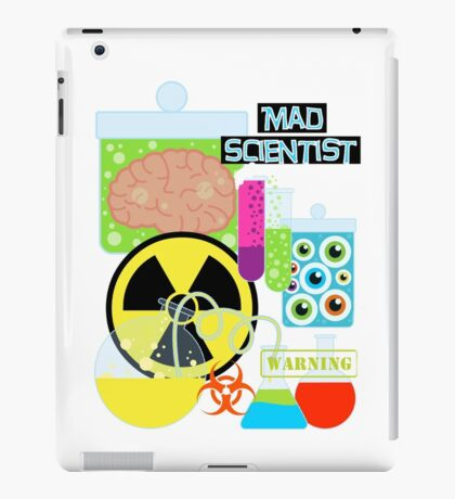 Mad Scientist Sciene Theme iPad Case/Skin