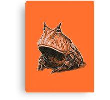 Orange Frog Canvas Print