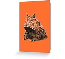Orange Frog Greeting Card