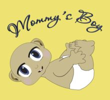 Mommy's Boy Bald and Blue Eyes One Piece - Short Sleeve