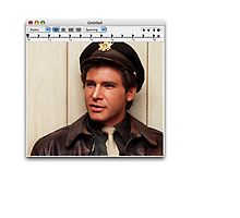 Harrison Ford Mac Photographic Print