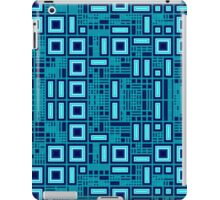 Blue geometric abstract pattern iPad Case/Skin