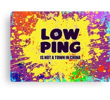 Low-Ping Canvas Print