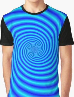 The Swirling Blues Graphic T-Shirt