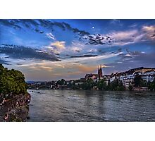 Basel Bathed in Moonlight Photographic Print
