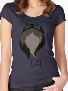 Gotham, Cat, Selena Kyle   Women's Fitted Scoop T-Shirt