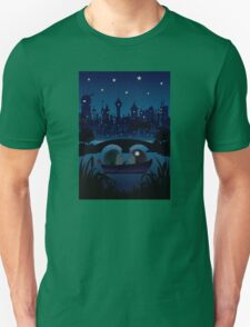 Hedgehogs in the night Unisex T-Shirt