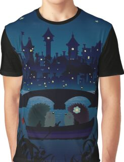 Hedgehogs in the night Graphic T-Shirt