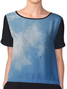 predator flying in the sky Chiffon Top