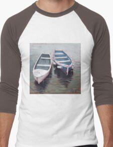 Sailing Boats, North Berwick Harbour, Scotland Men's Baseball ¾ T-Shirt