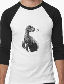Raptor Kisses Men's Baseball ¾ T-Shirt