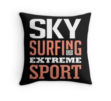 Sky Surfing Extreme Sport Black Throw Pillow