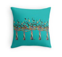 Trees colorful 1N Throw Pillow