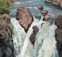 Waterfall in the Scottish Highlands near Glencoe Sticker