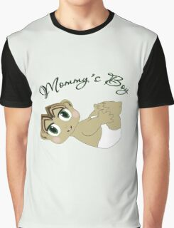 Mommy's Boy Brown Hair and Green Eyes Graphic T-Shirt