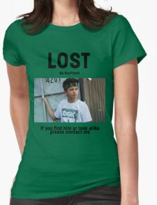 Lost Boyfriend: Jacob Sartorius (White Version) Womens Fitted T-Shirt